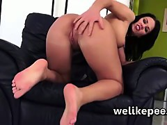 Whoops moment for Denisa Sky as she pees her self
