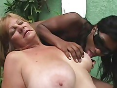 Ebony Tranny anb Blonde Granny - Part 1