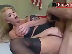White Afro Fuck Blond Hard Penetrated