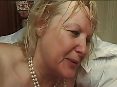 FRENCH MATURE n5 blonde bbw anal mom milf and 2 bi men