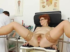 Madam gyno in addition to A ginger babe