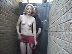 Home made - Mature woman in red in the allway