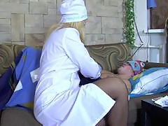 Milf nurse Bridget cures her patient with her pussy