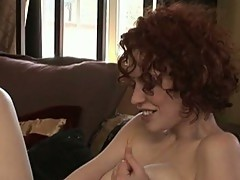 Red headed Justine Jolie receives Busy thumping her astonishing Toy in her snatch
