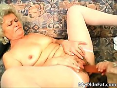 Horny filthy blond woman gets hairy