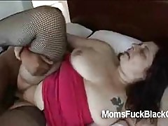 White big ass plumper takes a big black cock with her fatty cunt