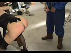 » French MILF shows her qualities as a slave «