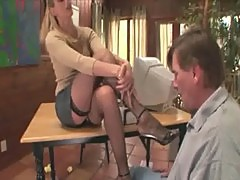 Therapist footsex with a patient with foot fetish