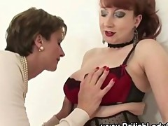 Lady Sonia gets her massive jugs licked