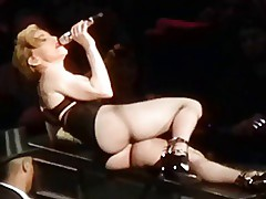 MADONNA near naked striptease masturbating on stage
