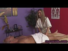 Busty MILF Devon Lee gives awesome cock massage