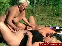 Fat bisexual grannies outdoor sex