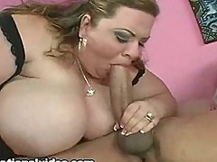 2 busty bbws give monster cock a blowjob
