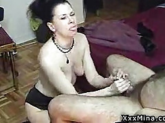 Horny mature couple films their home made fuck video