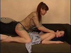 Mother and daughter's friends massage session