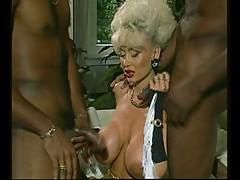 Dolly Buster - Milf fucked by 2 Black Guys