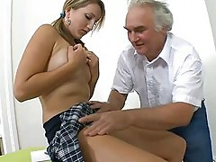 Excited mature teacher fucks chick senseless