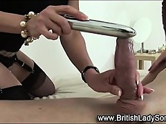 British domina rides face and toys pussy