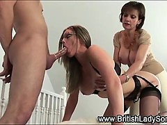 British milf whore gets spitroasted