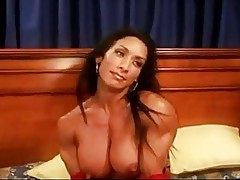 A gorgeous muscular milf with big clit
