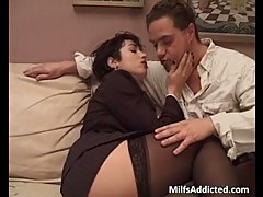 Great short haired milf got banged