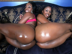 African Star and Laylani Star Swallow the banana