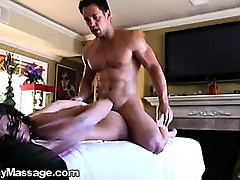 Hunky Masseur, gives this Hot Brunette Mind Blowing Sex!!
