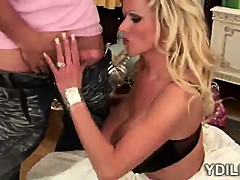 Massively stacked bride gets seduced by her horny tailor