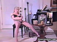 Mature Shemale Smokes And Masturbates