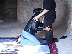 A slave wife tortured in front of hubby