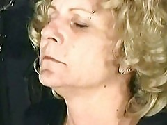 Old milf slave got her ass burnt with a candle and hot candl
