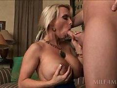 Big tit blonde MILF pornstar riding like a champ