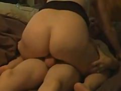 Mommy having sex with a half-asleep daddy