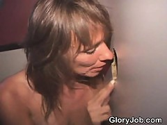 Mature Amateur Slut Smoking Pole At A Glory Hole