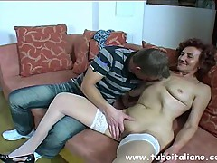 Italian Old&Young 4some