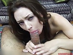 MILF Sarah Shevon slobbers on the cock