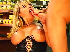 Hot Cougar DPs In The Produce Aisle - Vicky Vette
