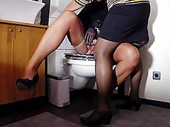 Horny Stocking Effects in the Bathroom