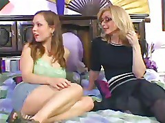 Nina Hartley Fucks Kaylee With Strapon