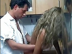 Hot German MILF gets taken in the kitchen