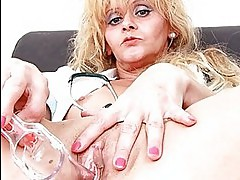 Gynoinstrument in mommy nurse piss hole