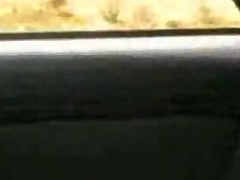 Arabic Woman Showing her nipples in the car