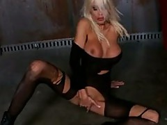 Puma Swede lick her fingers after dipping in her vaGina