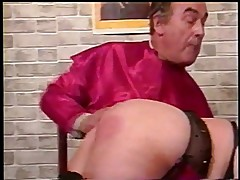 Priest whipping fat nun\'s ass