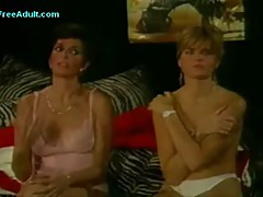 Classic mother daughter\'s friend threesome with younger guy