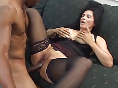 Stockings milf interracial. No anal!