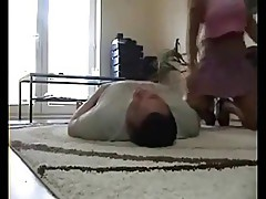 Apartment smother and erotic wrestle