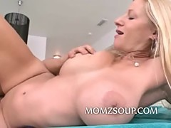 Tight pussy milf with big tits fucked by a much younger man