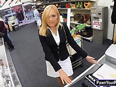 Hot blonde milf drilled with pawnkeeper at the pawnshop