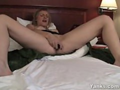 Hot MILF Josie Vibrating Her Pussy